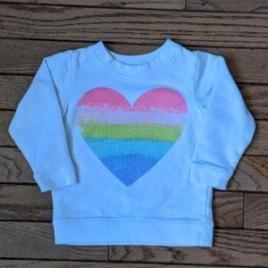 Rainbow Heart Sweat Shirt